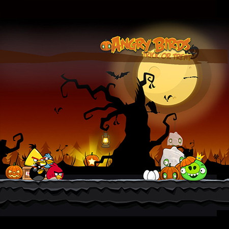 angry birds halloween game