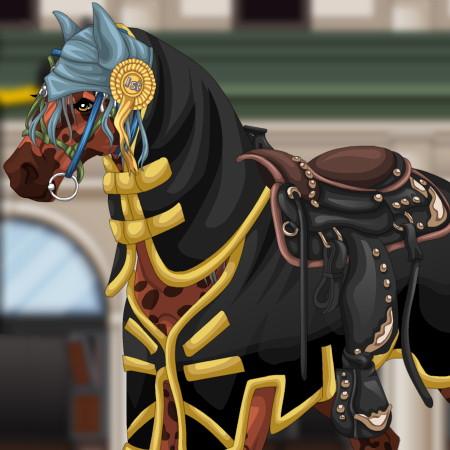 барби на лошади