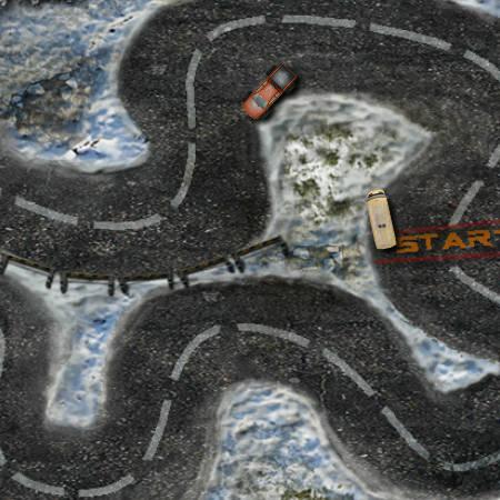 зимові ігри гонки на двох