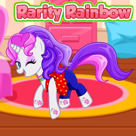 Игры пони рарити шьет платья