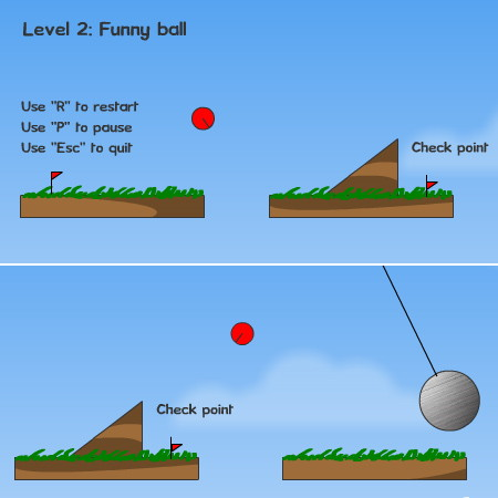 игры красный шар 1