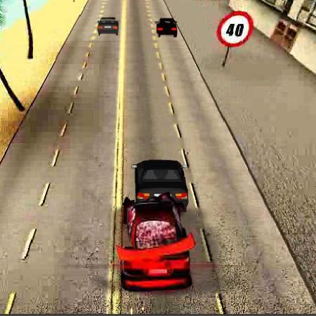 гонки на червоній машині