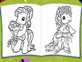раскраски пони