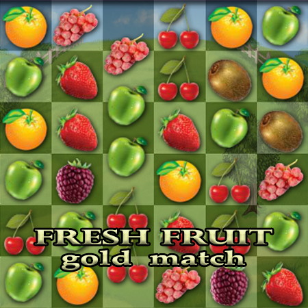 фрукти три в ряд
