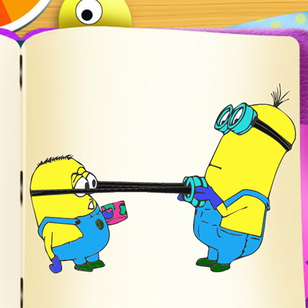 minions voloring book game