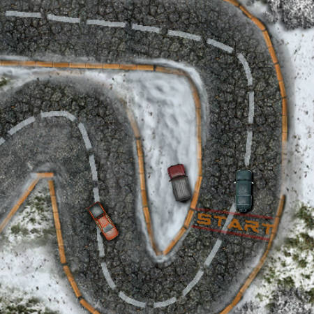 зимние гонки на двоих