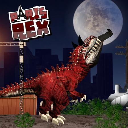 динозавр рекс в париже