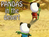 Pandas in Desert